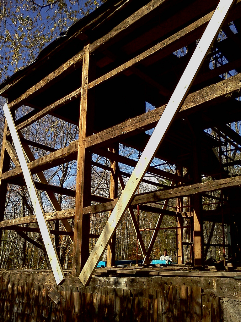 Foley Horse Barn, partially dismantled, West Poland, ME
