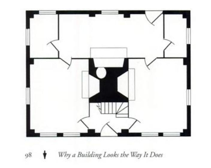 Floor Plan, two-room deep house, by James Garvin