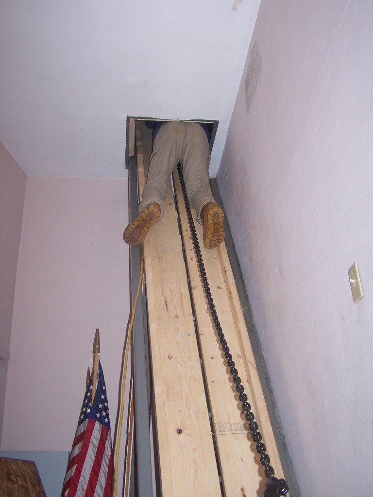 Inserting bed timber