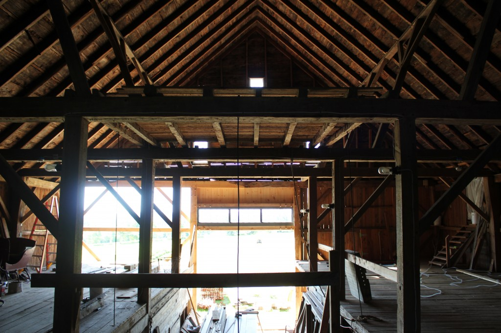 Barn bent framing, from loft
