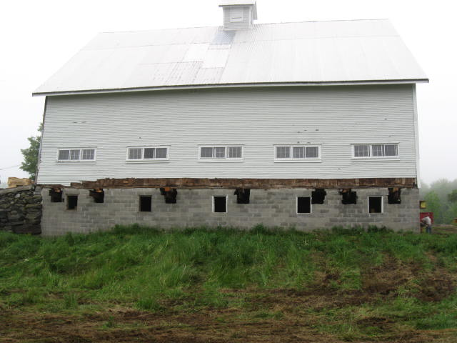 Randall's Hill dairy barn, before