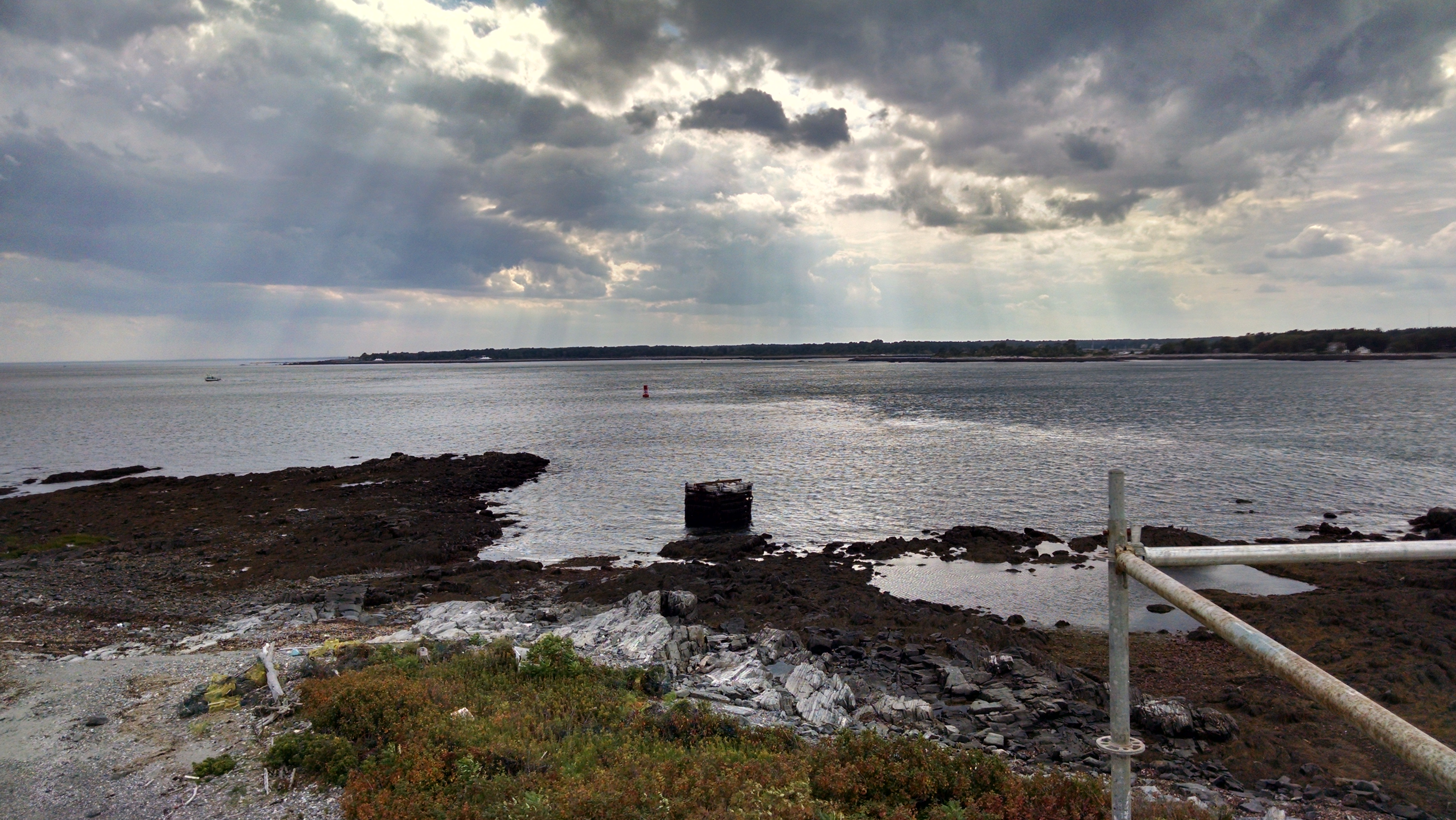 Sub net pier from the top of the Wood Island staging