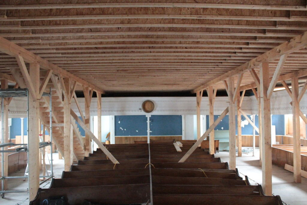 Sagadahoc Preservation Inc., timber frame floor