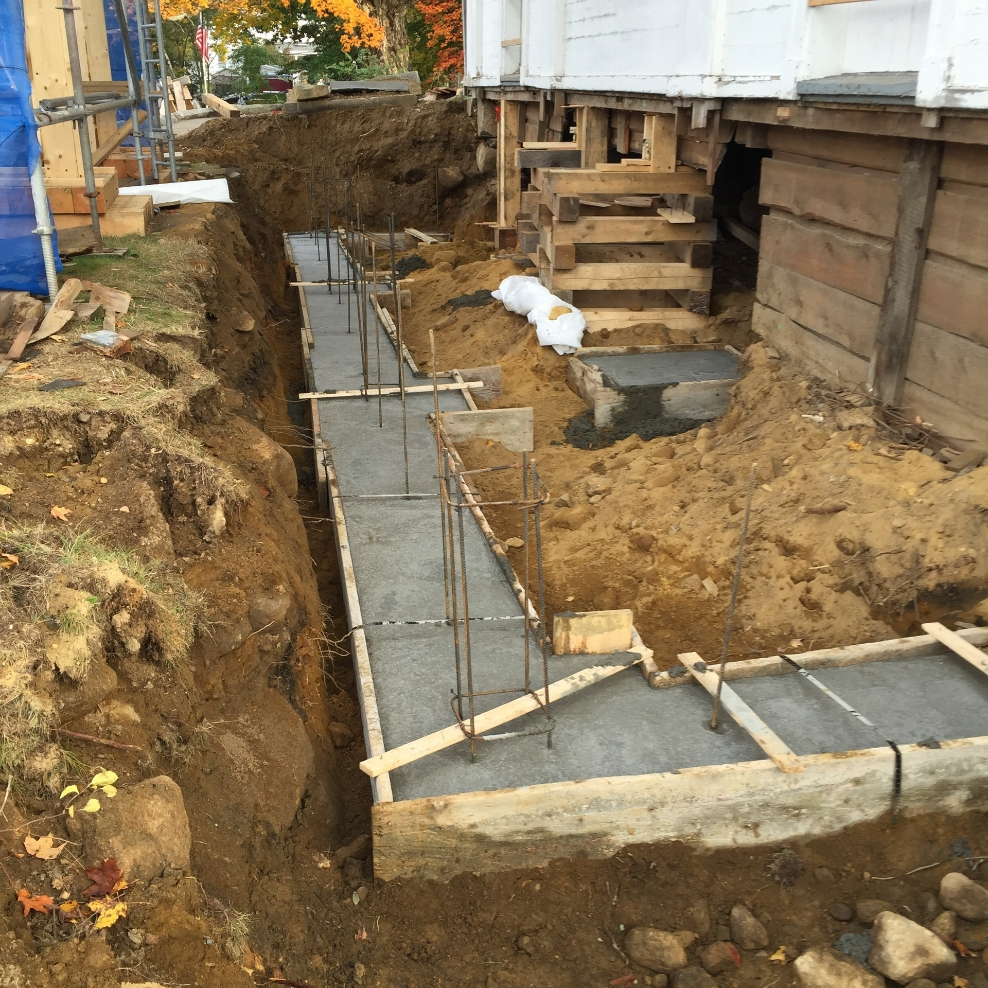 Front portico footer