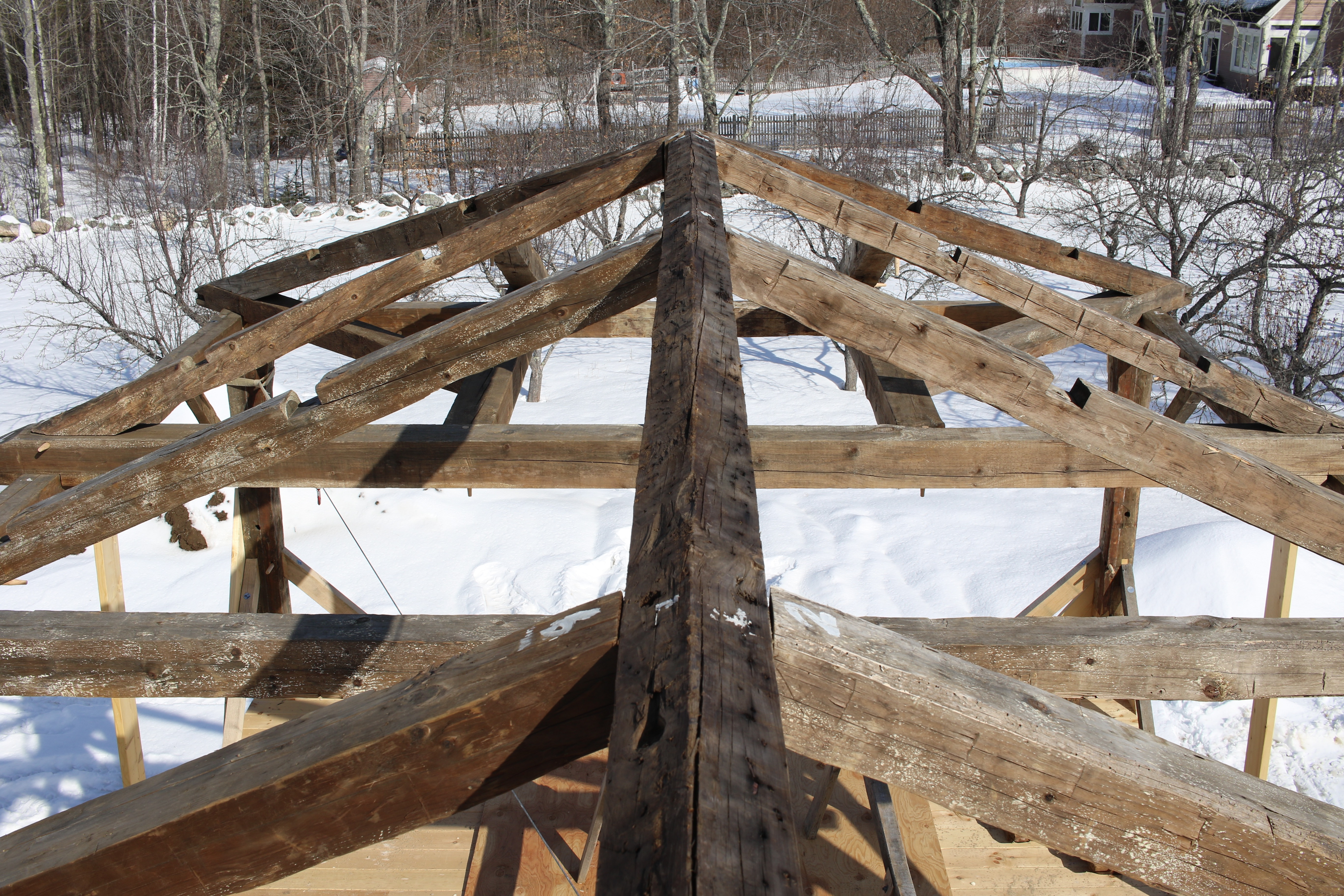 Foley Notebook This Roof Was Hip Before You Knew About It Preservation Timber Framing